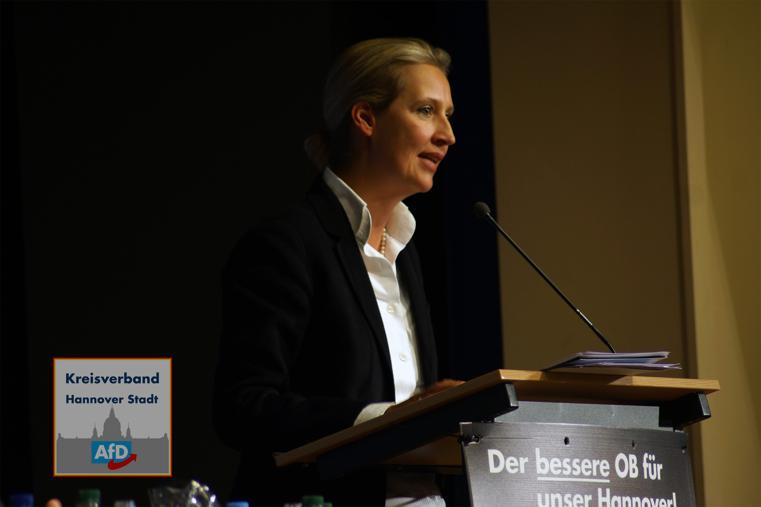 Dr. Alice Weidel am 16.1019 in Misburg